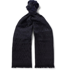 Missoni - Fringed Wool-Jacquard Scarf