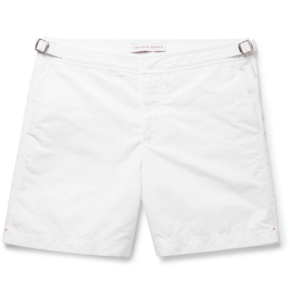 Bulldog Mid-length Swim Shorts - White