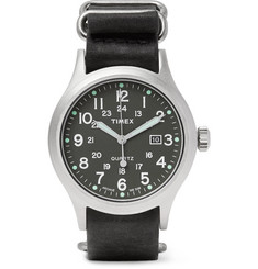 Timex - Allied Stainless Steel and Stonewashed Leather Watch