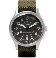 Timex - Camper MK1 Stainless Steel and Nylon-Webbing Watch