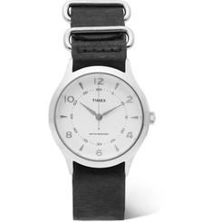 Timex - Whitney Village Stainless Steel and Leather Watch