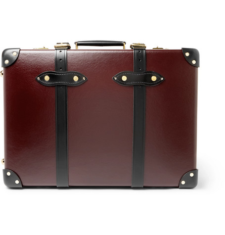 """Centenary 20"""" Leather Trimmed Carry On Suitcase by Globe Trotter"""