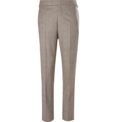Kingsman-Brown Slim-Fit Prince of Wales Checked Wool Suit Trousers