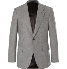Kingsman-Grey Slim-Fit Puppytooth Wool Suit Jacket