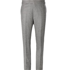 Kingsman Grey Puppytooth Wool Suit Trousers
