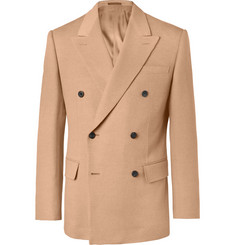 Kingsman Double-Breasted Camel Hair Blazer