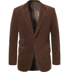 Kingsman Brown Slim-Fit Stretch-Cotton and Cashmere-Blend Corduroy Suit Jacket