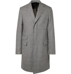 Kingsman Prince of Wales Checked Wool Overcoat