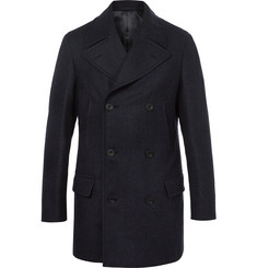 Kingsman Herringbone Wool and Cashmere-Blend Peacoat
