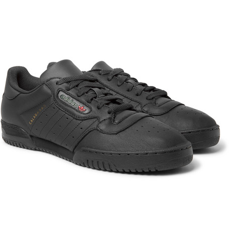 636fab570b1a5 Adidas Originals Yeezy Powerphase Calabasas Leather Sneakers In Black