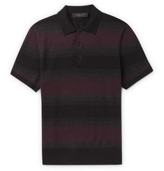 rag & bone - Striped Cotton and Cashmere-Blend Polo Shirt
