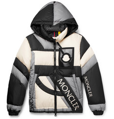Moncler Genius 5 Moncler Craig Green Colour-Block Quilted Shell Hooded Down Jacket