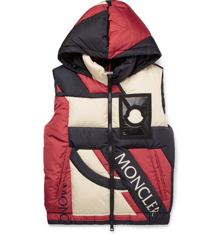 Moncler Genius - Craig Green Colour-Block Quilted Shell Hooded Down Gilet