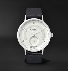 NOMOS Glashütte - Autobahn Neomatik Datum Automatic 41mm Stainless Steel and Nylon Watch