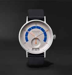 NOMOS Glashütte Autobahn Neomatik Datum Automatic 41mm Stainless Steel and Nylon Watch, Ref. No. 1303