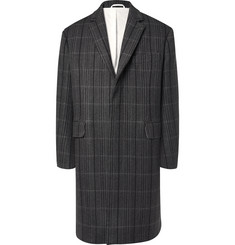 CALVIN KLEIN 205W39NYC Oversized Checked Virgin Wool and Silk-Blend Coat