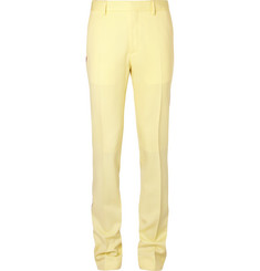 CALVIN KLEIN 205W39NYC Striped Virgin Wool-Gabardine Trousers