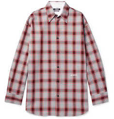 CALVIN KLEIN 205W39NYC Oversized Checked Flannel Shirt