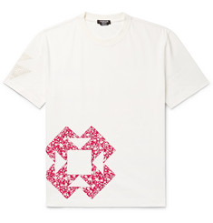 CALVIN KLEIN 205W39NYC Patchwork Appliquéd Cotton-Jersey T-Shirt
