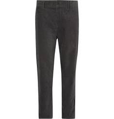 Mr P. - Dark-Grey Cotton-Corduroy Trousers