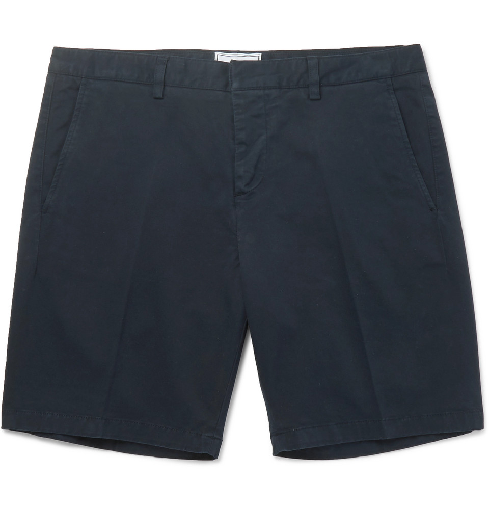 AMI Stretch-Cotton Twill Chino Shorts