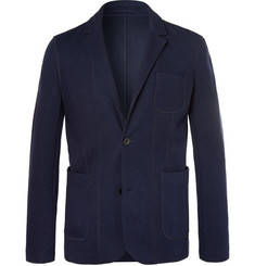 Mr P. Navy Slim-Fit Unstructured Jersey Blazer