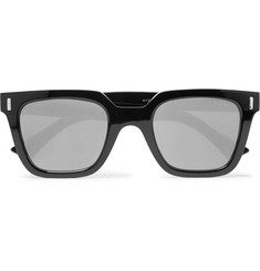 Cutler and Gross Square-Frame Acetate Mirrored Sunglasses