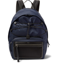 Tod's Leather and Mesh-Trimmed Ripstop Backpack
