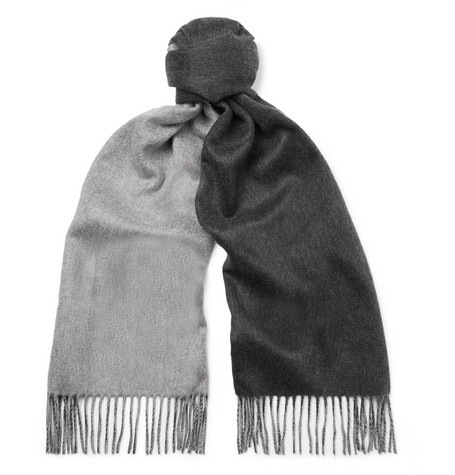 Reversible Fringed Cashmere Scarf Johnstons of Elgin 2iwml4wtCr