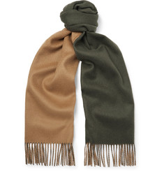 Johnstons of Elgin - Reversible Fringed Cashmere Scarf