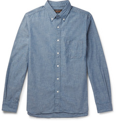 Beams Plus Button-Down Collar Cotton-Chambray Shirt