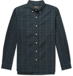 Beams Plus Button-Down Collar Black Watch Checked Cotton Shirt