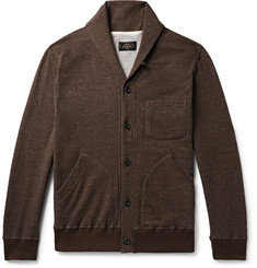 Beams Plus - Slim-Fit Shawl-Collar Mélange Loopback Cotton Cardigan
