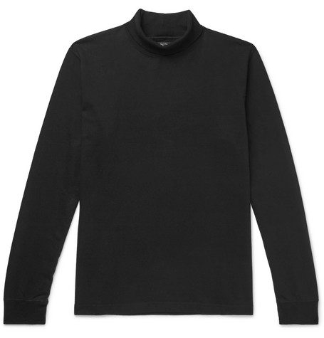 Cotton Jersey Rollneck Sweater by Beams Plus