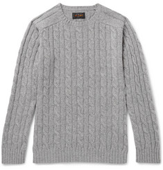 Beams Plus Cable-Knit Wool-Blend Sweater