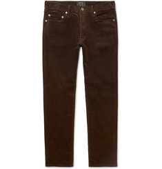 Beams Plus Slim-Fit Cotton-Blend Corduroy Trousers