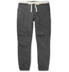 Beams Plus Slim-Fit Tapered Mélange Cotton-Blend Jersey Drawstring Trousers