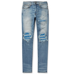 AMIRI - MX1 Skinny-Fit Panelled Distressed Stretch-Denim Jeans
