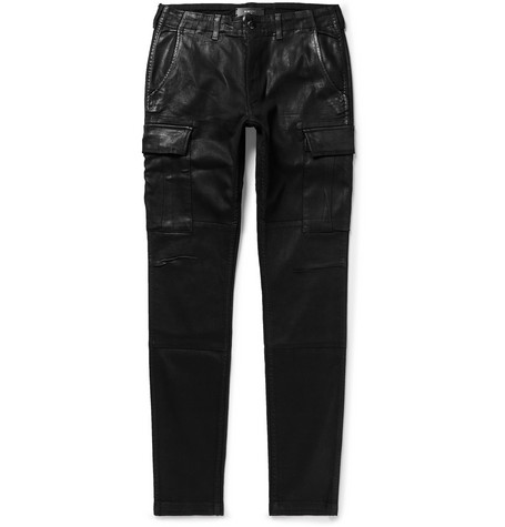 Skinny-fit Waxed Stretch-denim Cargo Jeans Amiri 62UkHu