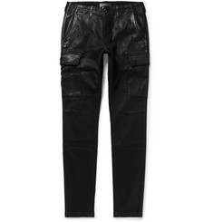 AMIRI Skinny-Fit Waxed Stretch-Denim Cargo Jeans