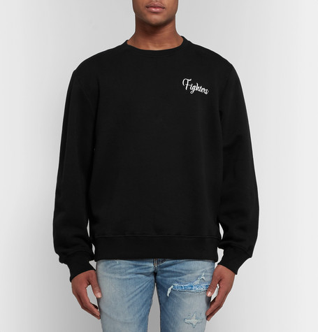 Appliquéd Fleece Back Cotton Jersey Sweatshirt by Amiri