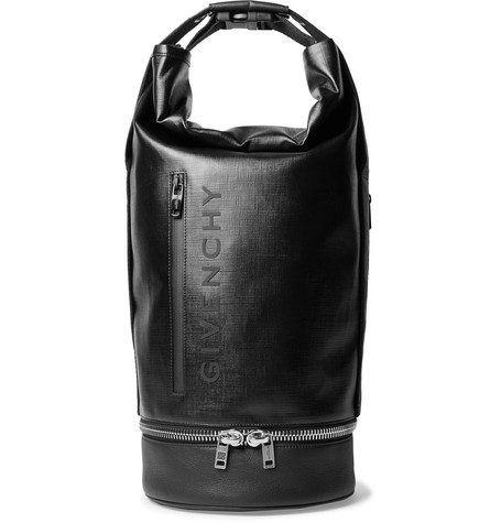 db0fc0eac192 Givenchy Jaw Convertible Leather-Trimmed Coated-Canvas Tote Bag In Black
