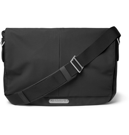 BROOKS ENGLAND Strand Coated-Nylon And Cordura Messenger Bag in Black