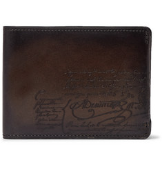 Berluti Essentiel Scritto Leather Billfold Wallet