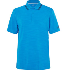 Adidas Golf - Ultimate 365 Contrast-Tipped Mélange Stretch-Jersey Polo Shirt