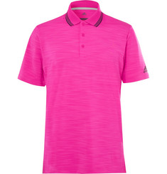 Adidas Golf Ultimate 365 Contrast-Tipped Mélange Stretch-Jersey Polo Shirt