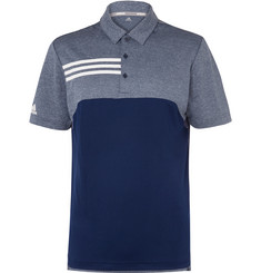 Adidas Golf Striped Jersey Golf Polo Shirt