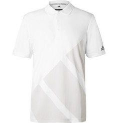 Adidas Golf - Bold Striped Jersey Polo Shirt