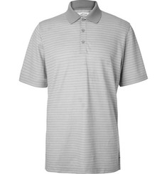 Adidas Golf AdiPure Striped Wool-Blend Piqué Polo Shirt