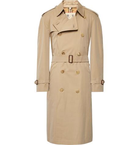 Burberry – Cotton-gabardine Trench Coat – Beige